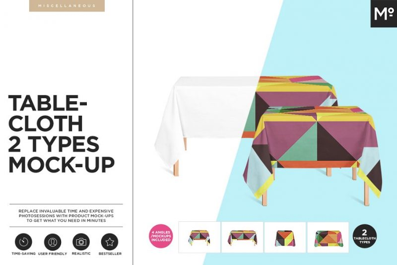 Realistic Table Cloth Mockup PSD