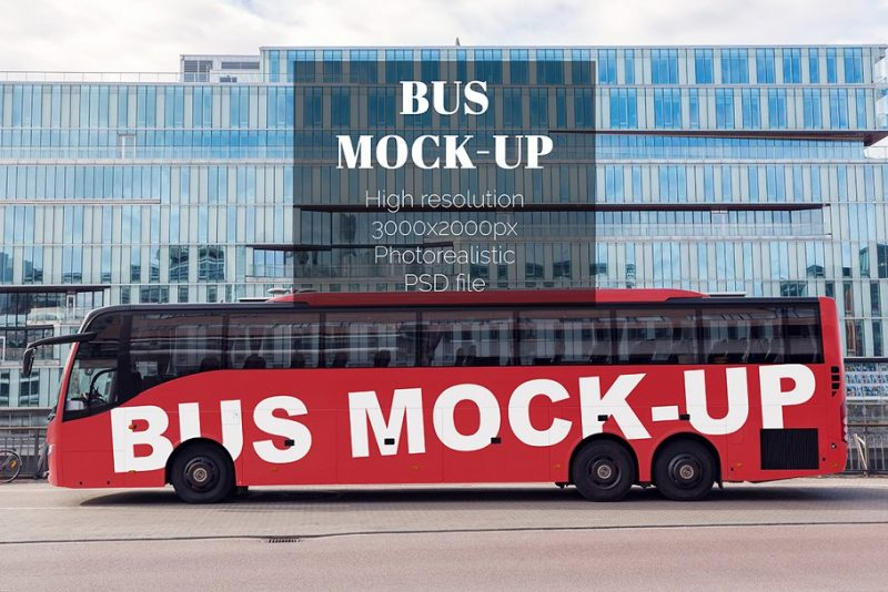Realistic Bus Mockup
