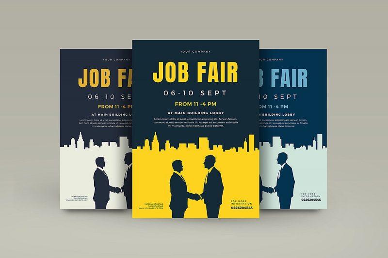 Recruitment Fair Flyers PSD