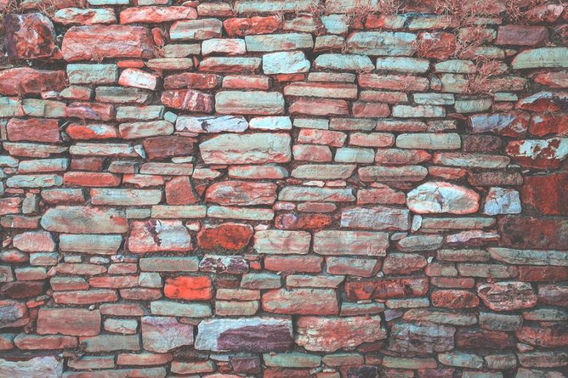 Red Stone Wall Textures
