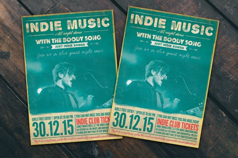 Retro Band Flyer Template
