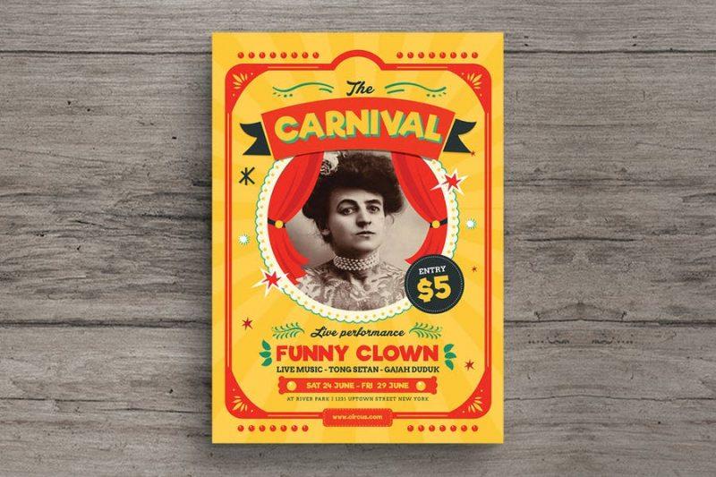 Retro Style Circus Flyers