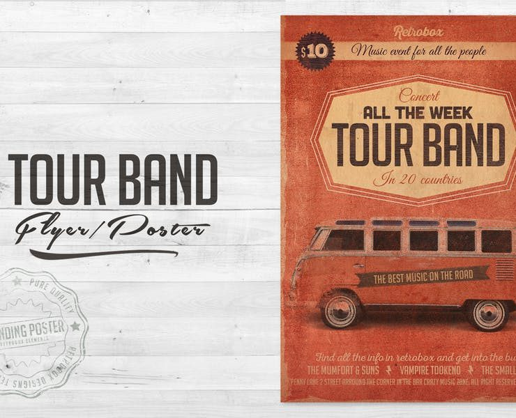 21+ Band Flyers Template Editable PSD, Ai and Word