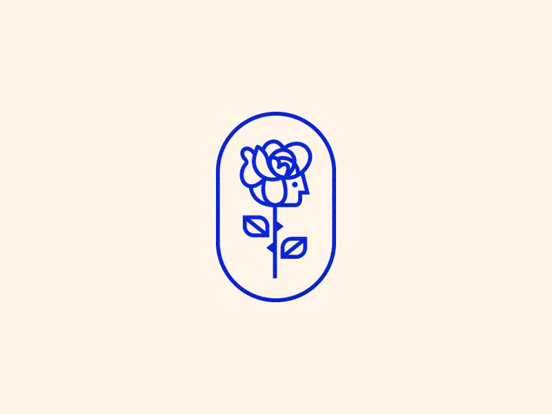 Rose Flower Logo Illustration