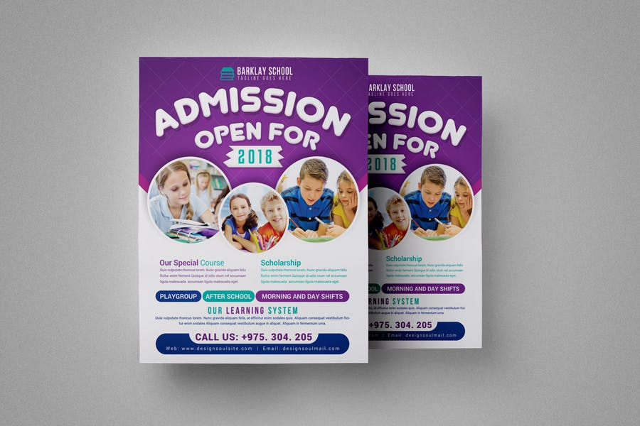Schoo Admission Flyer Template