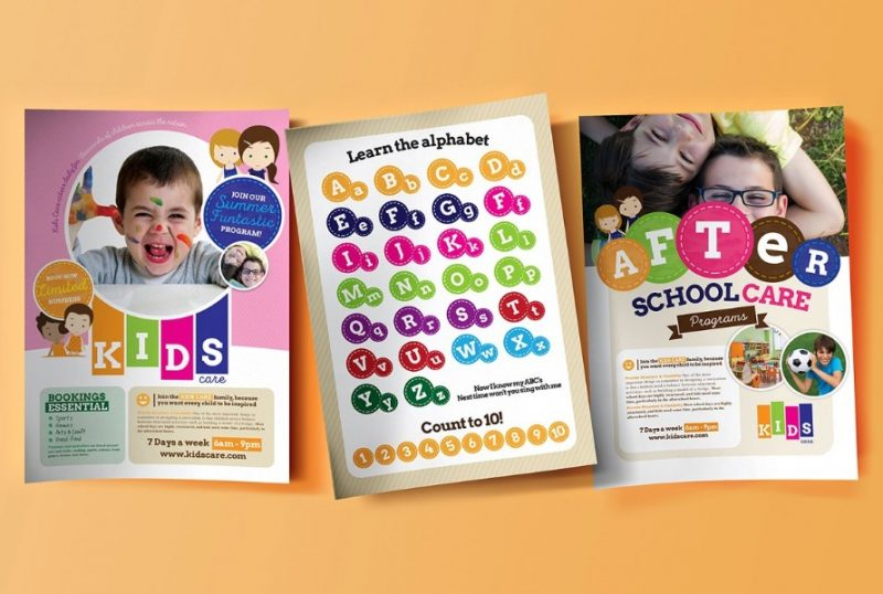 School Care Flyer Template
