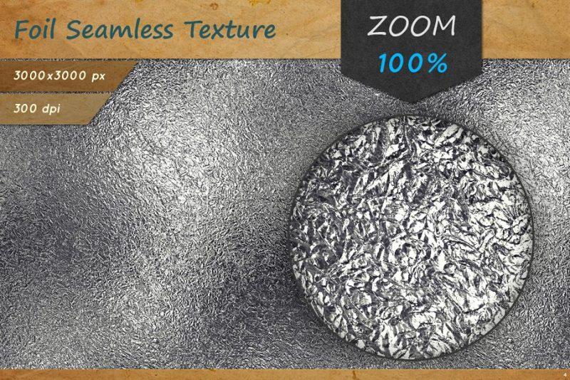 Seamless Aluminium foil Textures