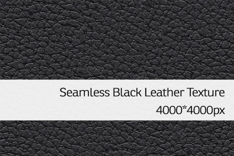 Seamless Black Leather Textures