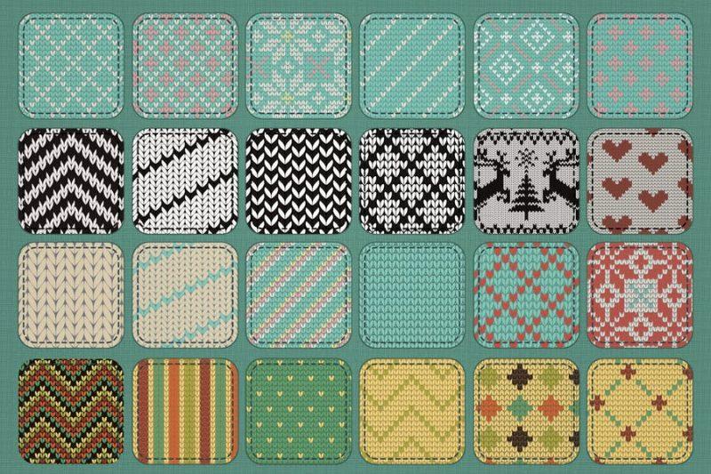 Seamless Knit Textures Bundle