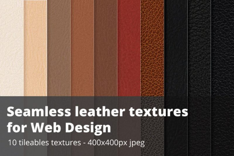 Seamless Leather Design for Web Designers