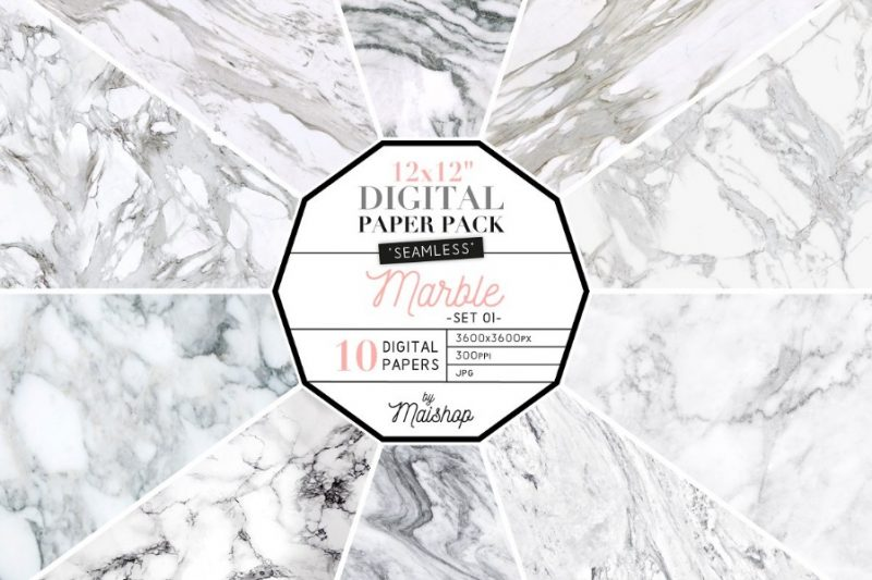 Seamless Marble Digital Paper