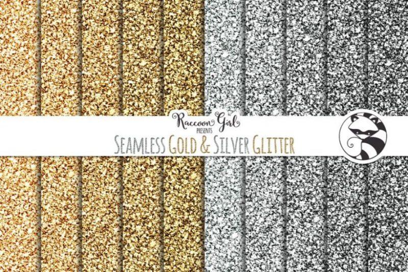 Seamless Silver Glitter Texture