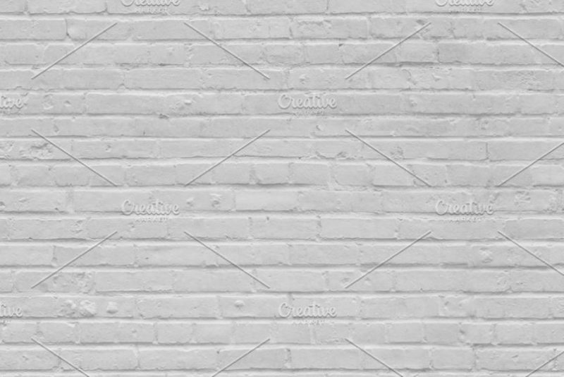 Seamless White Brick Wall Texture