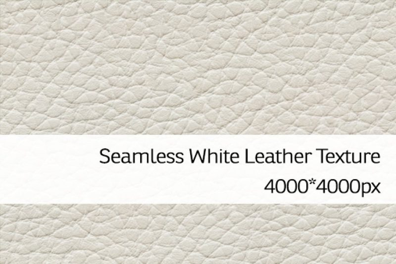 Seamless White Leather Backgrounds