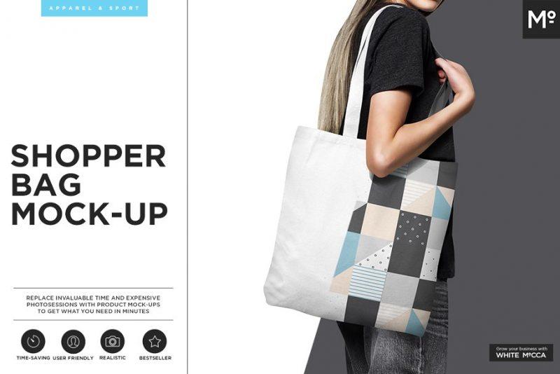 Shopper Bag Mockups PSD