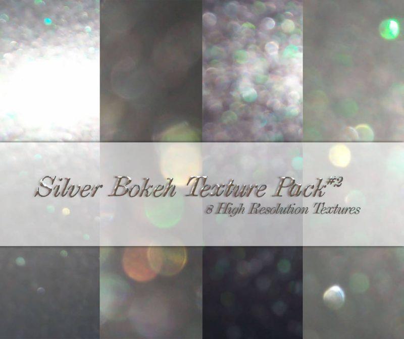Silver Bokeh Texture Pack