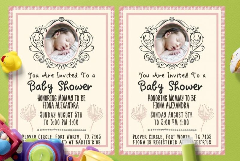 Simple Baby Shower Flyers