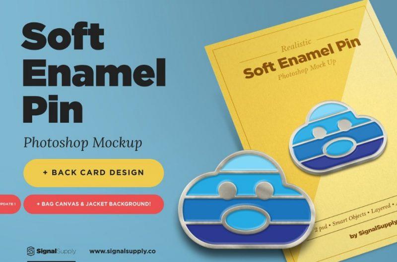 Soft Enamel Pin Mockup