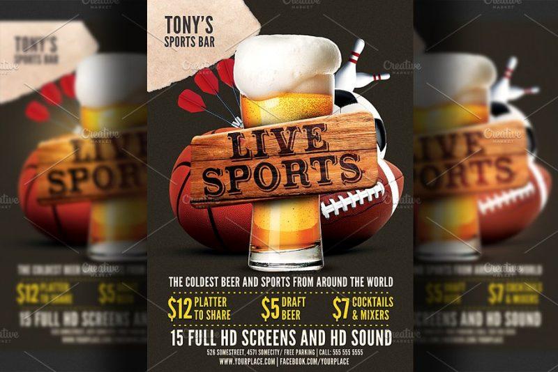 Sports Bar Flyer PSD