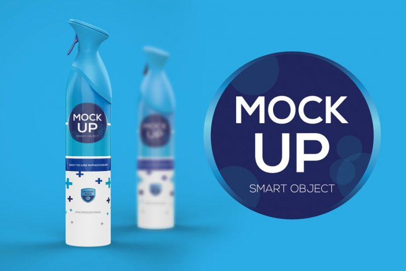 Spray Bottle Mockup Design