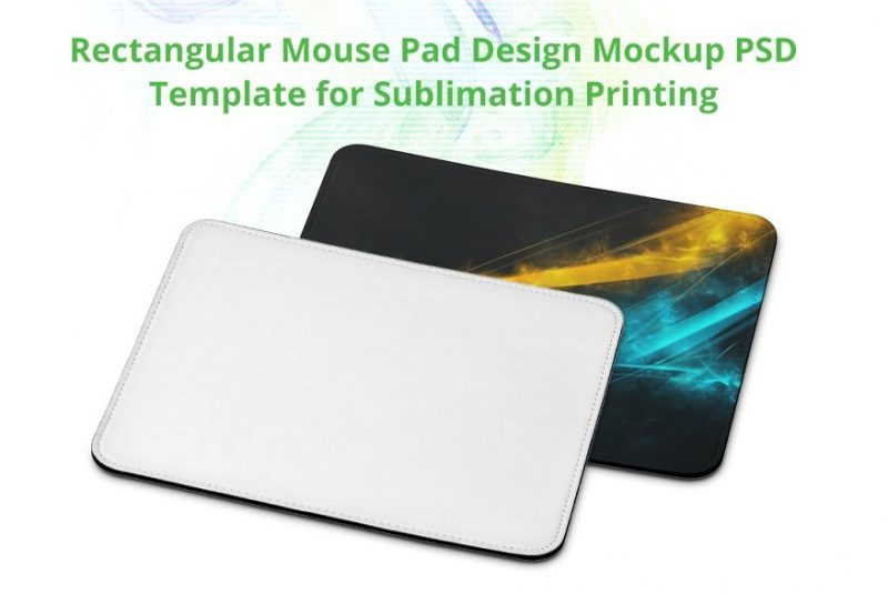Sublimation Mousepad Mockup PSD