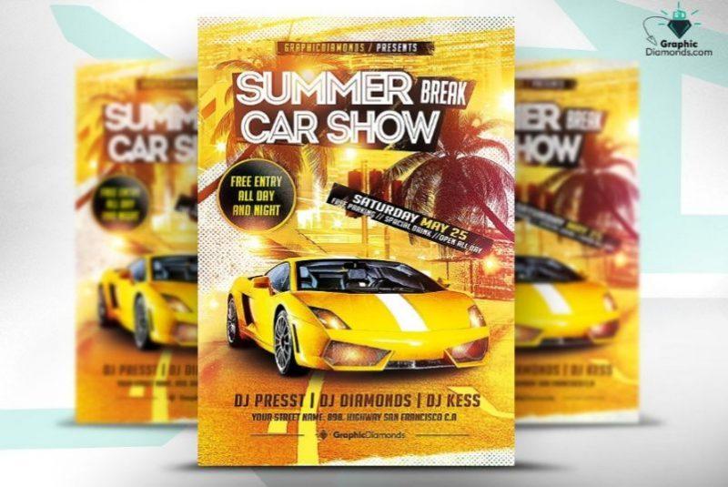 Summer Break Car Show Flyers
