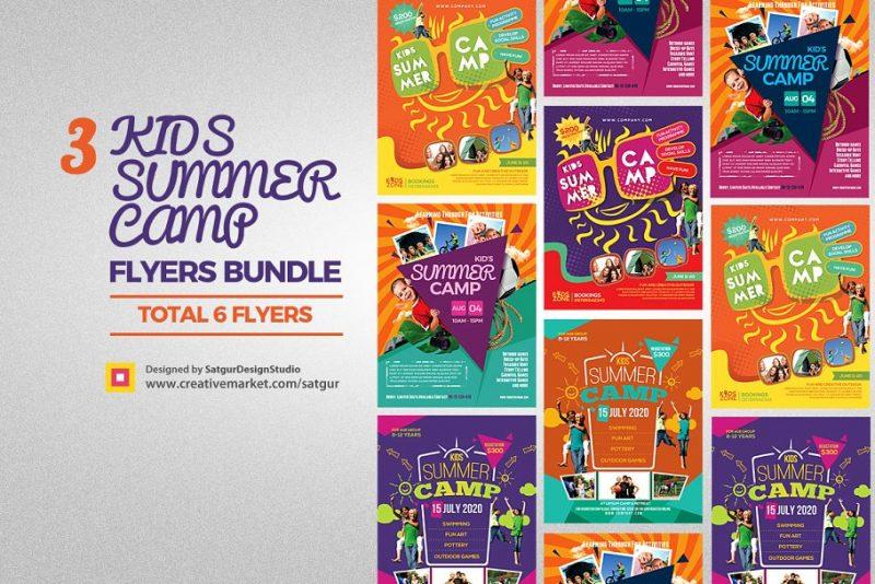 Summer Camps Flyer Bundle