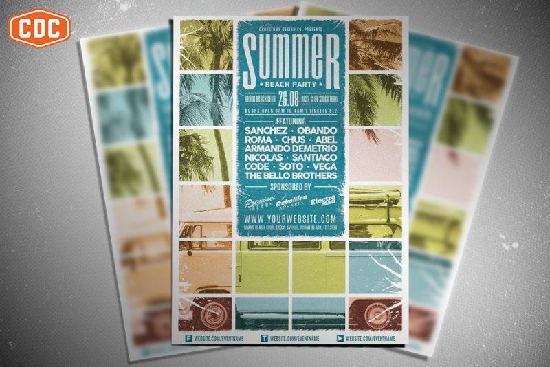 Summer Flyers Template PSD