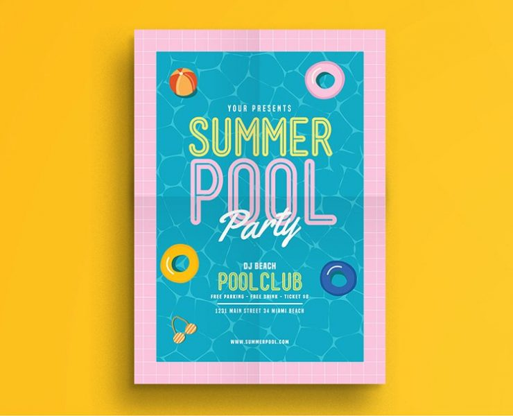 15+ Pool Party Flyers Templates PSD and Ai
