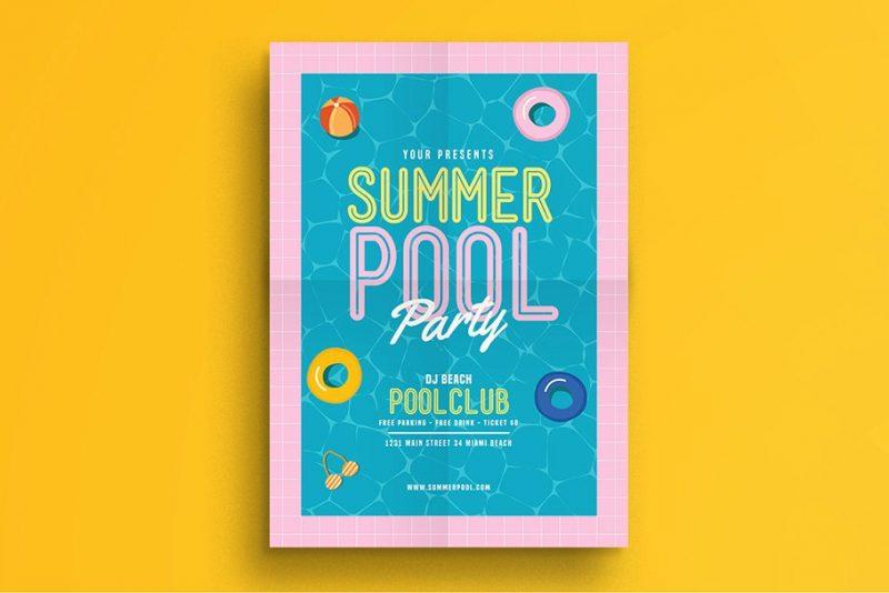 Summer Party Flyer PSD