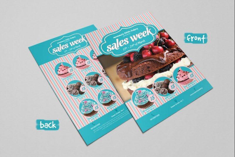 Sweet Shop Flyer PSD