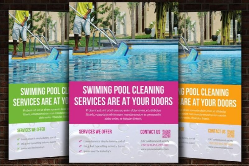 Swimming Pool Cleaning Flyer Template