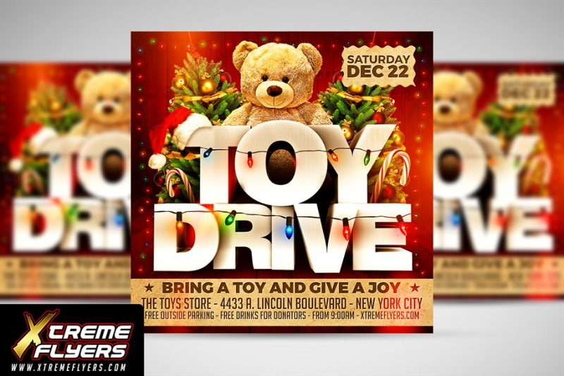 Toy Charity Flyer Template