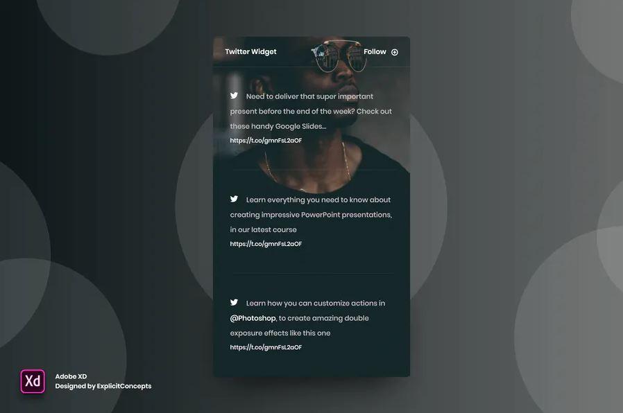 Twitter-widget-Adobe-XD-Mockup