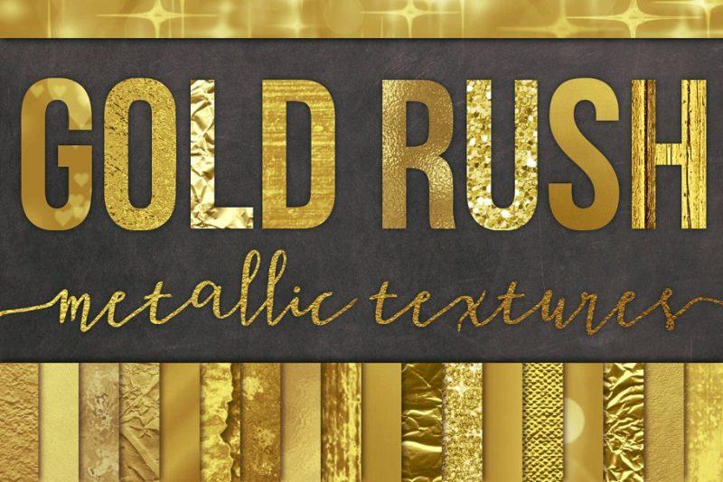 Unique Gold Texture Set
