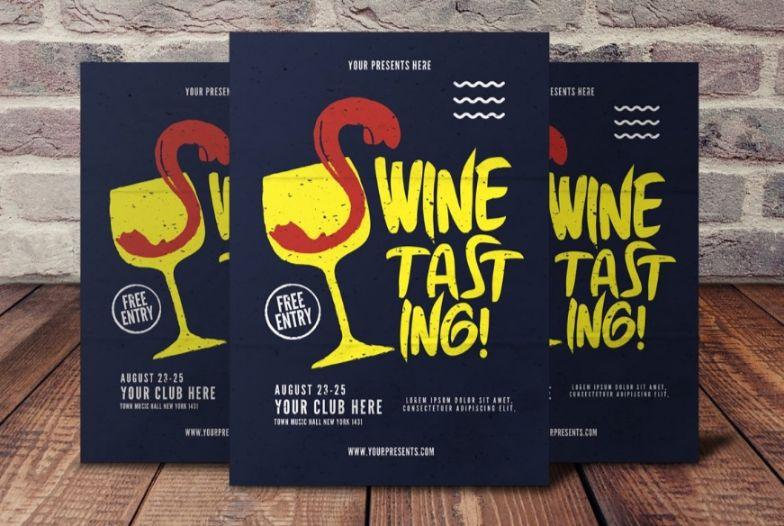 Unique Wine Tasting Flyer