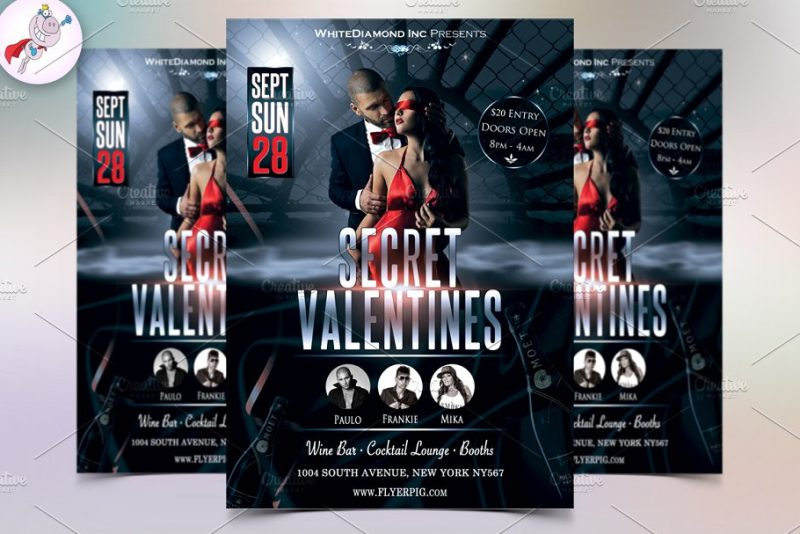 Valentine Flyers PSD