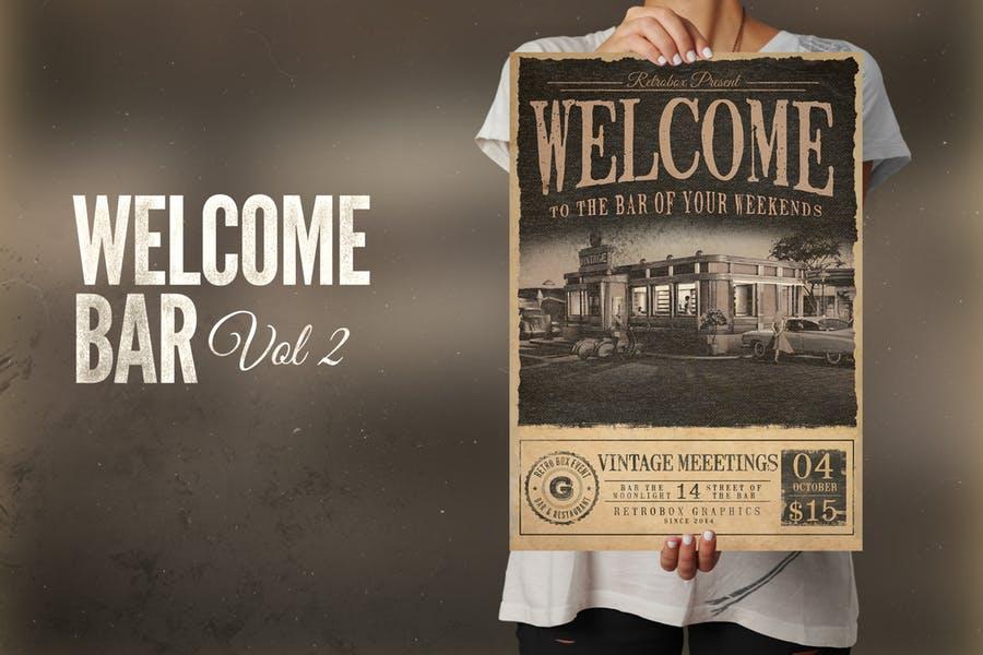 Vintage Bar Promotional Flyer