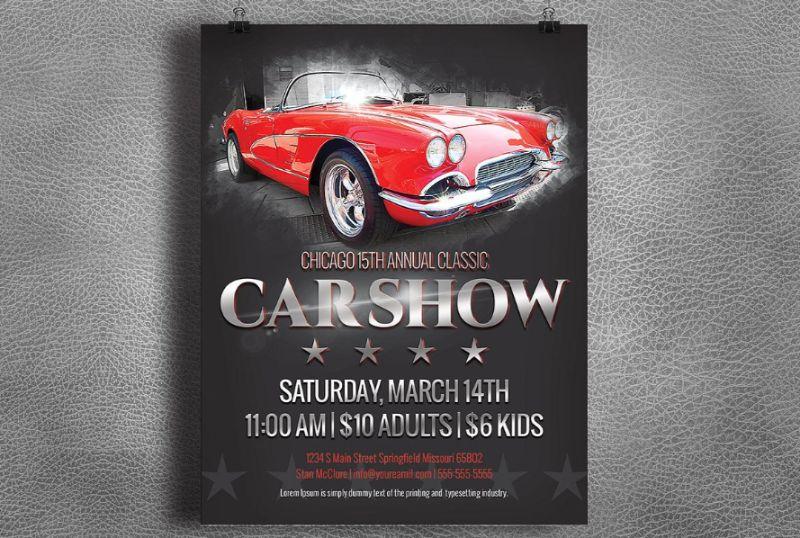 Vintage Car Show Flyers
