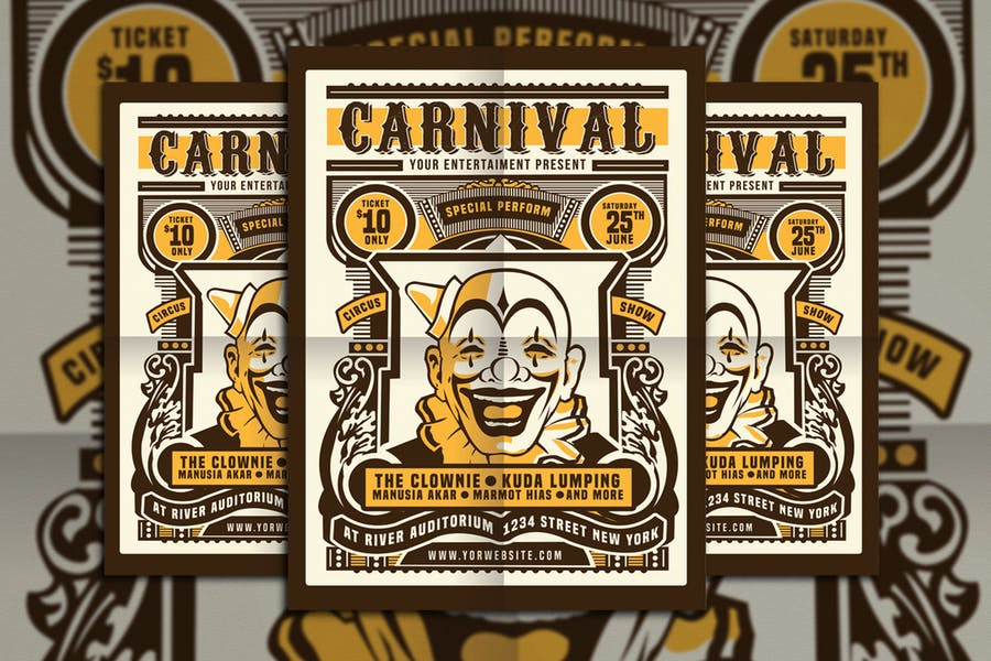 Vintage Circus Flyer PSD