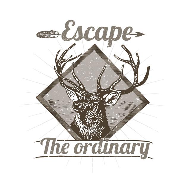 Vintage Deer Logo Illustration