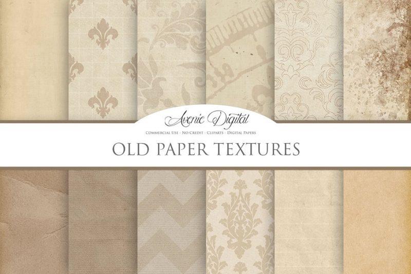 Vintage Digital Paper Textures