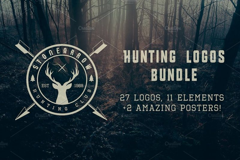 Vintage Hunting Logo Design