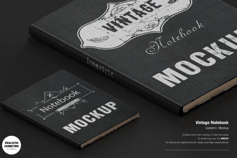 Vintage Leather Book Mockups