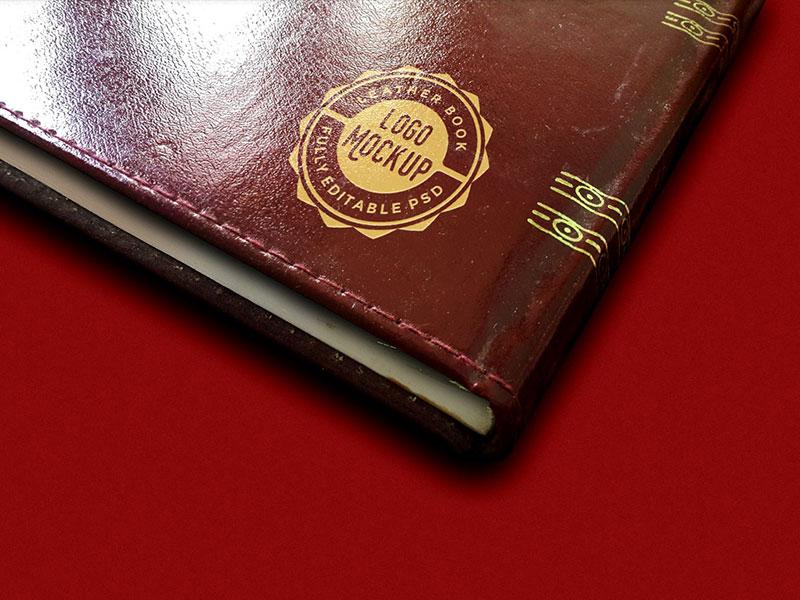Vintage Leather Logo Mockup PSD