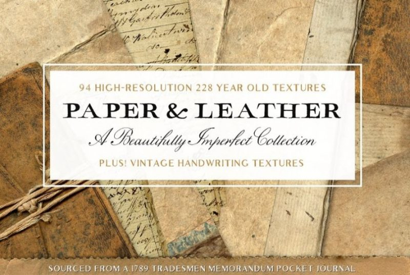 Vintage Leather and Paper Texture