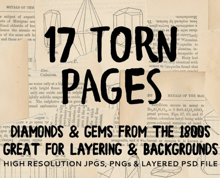 11+ Torn Paper Textures for Design Projects