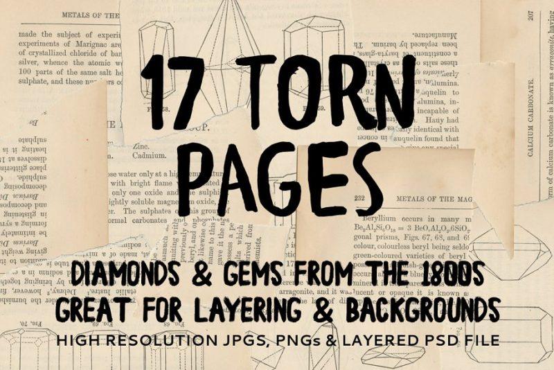 Vintage Paper Torn Backgrounds