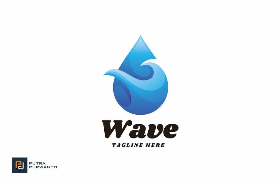 Wave Drop Logo Design