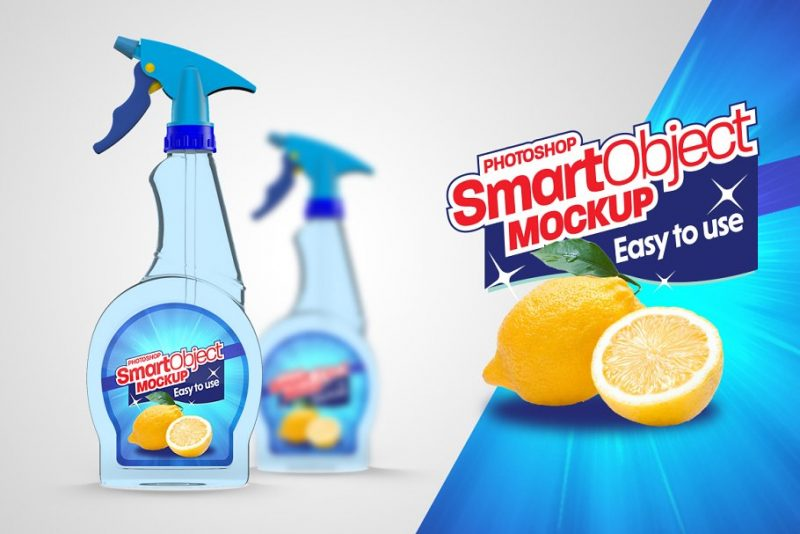 Window Cleaner Spray Mockup